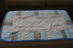 baby quilt - fits on the ottoman!