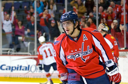 WASHINGTON, DC – MARCH 1: Alex Ovechkin of the Washington Capitals following