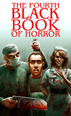 Coming soon! Charles Black's Fourth Black Book of Horror - cover by Pauk Mudie - click here to visit Mortbury Press.