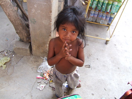 Girl begging