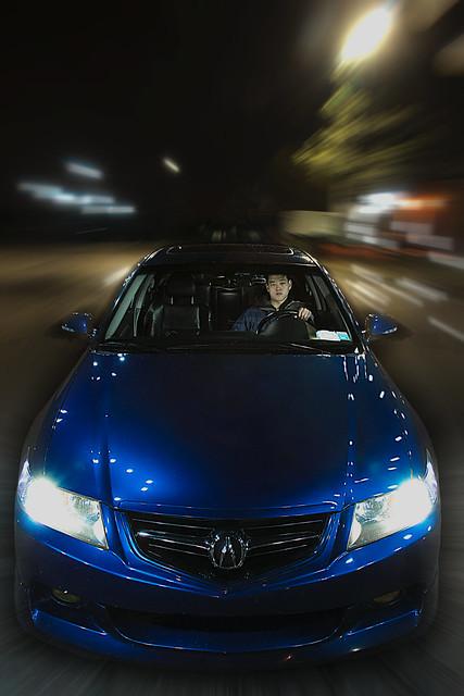 blue blur night speed canon honda shot flash fast import acura tsx hids sb800 speedlite abp strobist 40d 430exii lcrazyaznl