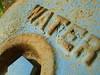 Water [2] (wyldanthem) Tags: blue macro water words rust rusty cracked tcf bigmomma 3waychallengewinner flickrchallengegroup flickrchallengewinner pfosilver thechallengefactory thechallengefactorywinner themotherofallchallengegroupswinner pfosilverwinner