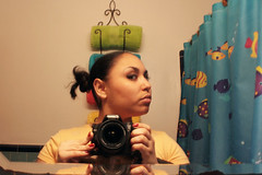 (Venessa Nina) Tags: portrait fish selfportrait reflection self bathroom photography mirror nina venessa fivefootmohawk venessaninaphotography