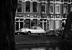 DS Spoorsingel (CitroenAZU) Tags: auto white black holland car rotterdam id citroen ds goddess nederland voiture coche zwart wit snoek deesse spoorsingel