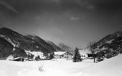 St Anton in the Snow, by Mat (Mat Mackenzie) Tags: mountain snow monochrome st austria am anton arlberg nasserein