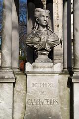 Delphine de Cambaceres (Bee.girl) Tags: sculpture paris france cemetery statue 2009 cimetiere buste prelachaise d40x delphinedecambaceres