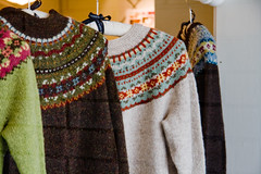Yoked Sweaters! (LollyKnit) Tags: travel washington bainbridgeisland yarnshop churchmouseyarns yokedsweaters
