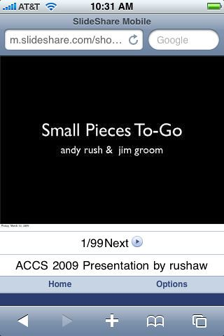 ACCS 2009 Mobile Edition