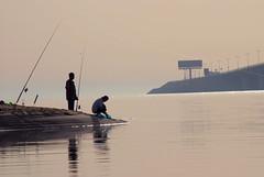 Hope (Ruoxer) Tags: sea cloud sun reflection leaves sunrise fishing corniche shore saudi arabia breeze dates homesick alkhobar