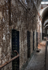 HDR of Eastern State Penitentiary Hallway