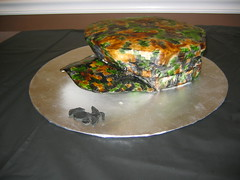 USMC Digital Cami Cover Cake (JacksonvillesCustomCakes) Tags: hat cake usmc digital carved marine military utility cover cammie cammo camouflaged