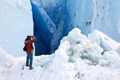 at the base of mendenhall (armykat) Tags: camera blue winter snow ice nature alaska landscape outdoors photography march frozen nikon solitude crystals peace photographer natural calm hike glacier juneau serene wilderness crystallized mendenhall glacial cmwdblue mendenhallglacier tpawinter