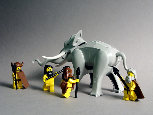 LEGO Neolithic minifigs with BrickForge Tribal Spears