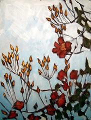 Wild Rose Study III (Rick_Dickinson) Tags: landscape artist blossom mixedmedia lancashire wildrose dalton oilpainting wigan rickdickinson crowlanestudio wwwcrowlanestudiocom