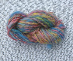 Rainbow blue handspun corriedale yarn