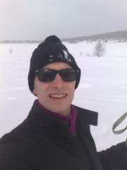 Me out skiing in Boden