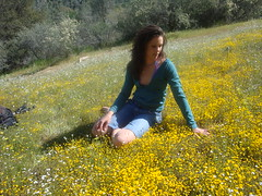 Jessica, intimate with the wildflowers