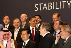 Obama y otros lideres del G20