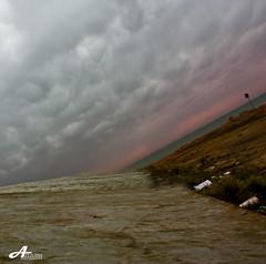 Clouds (ZiZLoSs) Tags: sea sky clouds canon eos kuwait aziz 28200mm abdulaziz عبدالعزيز 450d zizloss المنيع 3aziz almanie photoziz