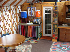 yurt kitchen sink and dining (coyurtco) Tags: green yurt sustainable yurts enviornmentallyfriendly simplelifestyle coloradoyurt