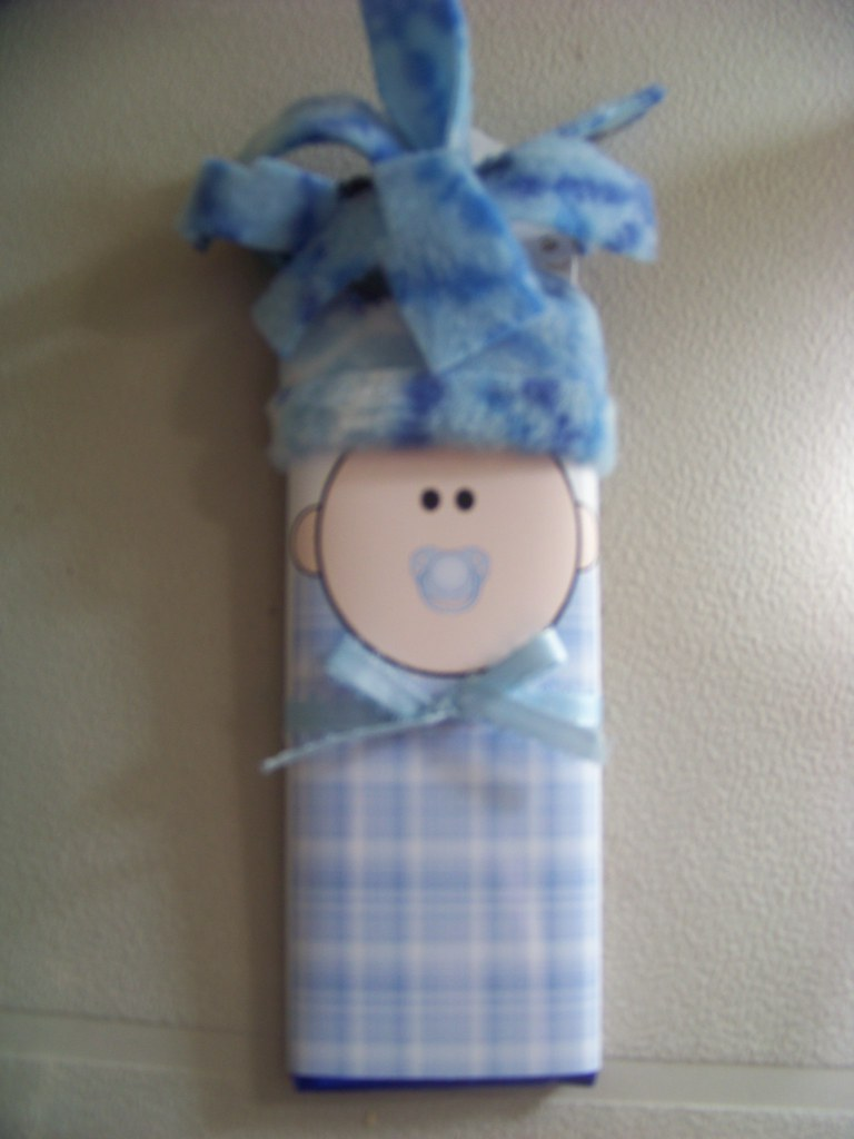 baby boy Personalized candy bar favor