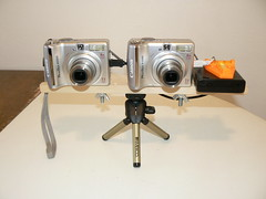 Variable Base Stereo Rig 1 (patrick.swinnea) Tags: canon stereoscopic 3d rig stereophotomaker a550 customfirmware stereodatamaker