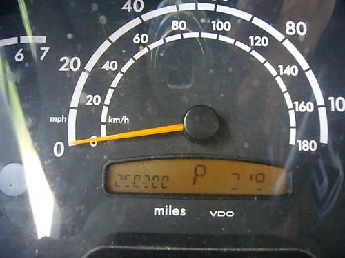 250,200 Miles!  Congrats, Suz