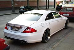 Mercedes-Benz CLS 55 AMG (C219) (jens.lilienthal) Tags: auto white cars car mercedes benz hamburg voiture mercedesbenz autos 55 weiss mb amg voitures cls barmbek c219