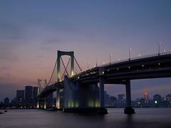 (no title) (kapsule) Tags: sunset japan tokyo odaiba rainbowbridge