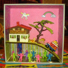 Nu Rave (Rainbow Mermaid) Tags: art miniature 3d mixed media assemblage scene diorama rainbowmermaid