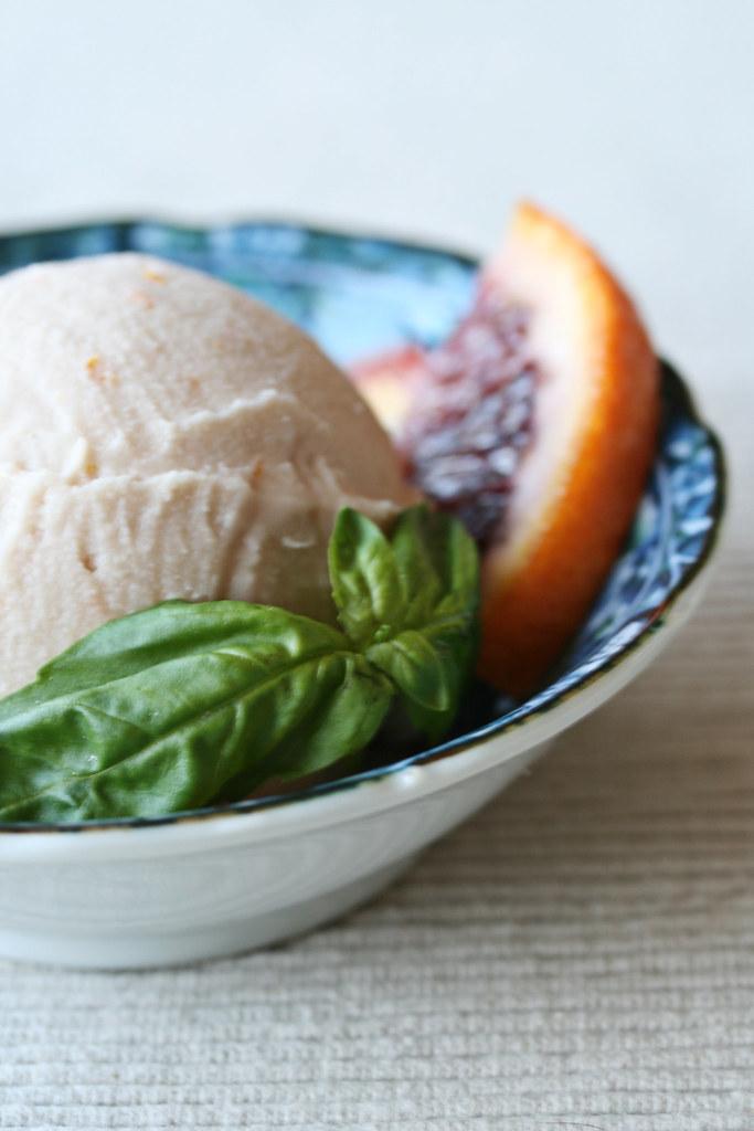 Orange Basil Ice Cream