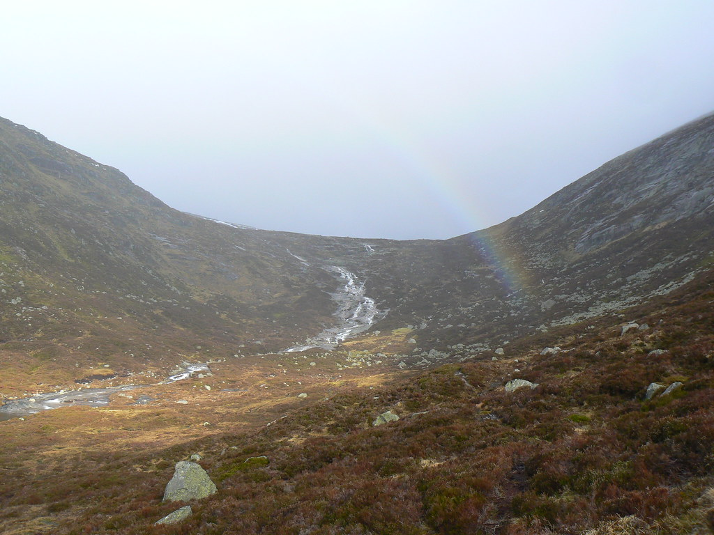 Rainbow over the Allt an Dubh-loch