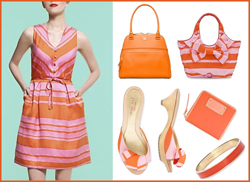 Kate Spade orange and pink