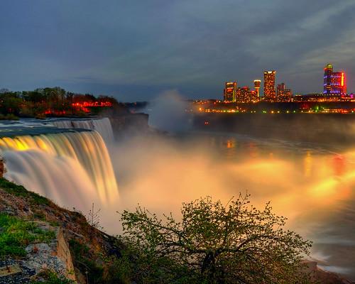 Niagara Falls At Night - Niagara Falls, NY HDR