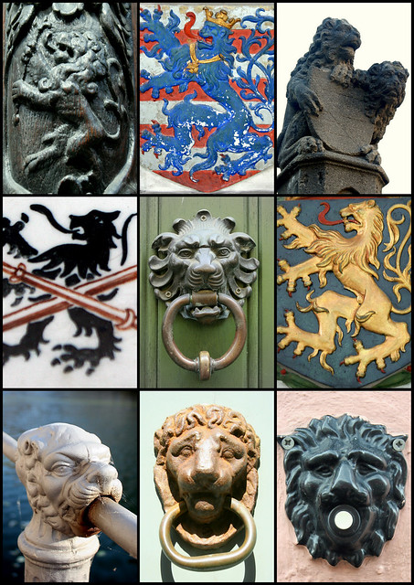Bruges- lion - collage