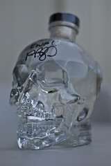 Crystal Head Vodka View 1 (evaxebra) Tags: dan glass skeleton skull 50mm bottle eva crystal head alcohol booze vodka fiddy personalized signed autographed ewa aykroyd xebra akroyd evaxebra crystalheadvodka