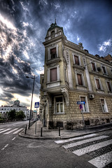City corner, Belgrade (VitaR) Tags: city sky streets color architecture canon europe raw belgrade hdr 3xp photomatix handheldhdr obilicevvenac hdraddicted winnr hdrpro distinguishedhdr