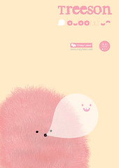 Poster Design (Bubi Au Yeung) Tags: cute print poster fur design graphic fluffy neat simple crazylabel treeson bubblefun designedbybubiauyeung pinktreeson