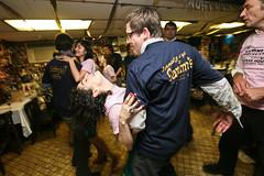 schmaltzing it up (sgoralnick) Tags: alexis dancing chad lowereastside graduationparty sammys flybutter sammysroumaniansteakhouse thirtyoneteeth souvenirtshirts happygraduationdrdrflybutter