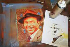 Step#10 Frank Sinatra (>tony<) Tags: street original vintage painting giant frank photo stencil acrylic culture blues cardboard lucky layers spraypaint custom legend acrylicpaint sinatra franksinatra colorization oldblueeyes kustomkulture