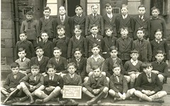 Standard VI, West Derby, C of E Junior School, Liverpool (theirhistory) Tags: school class form schoolgroup boy child kid blazer jacket tie stripedtie shirt jumper wellingtons slate blackboard shorts shoes boots laceup wellies uniform schooluniform uk britain unitedkingdom england primary junior gb pupils students education