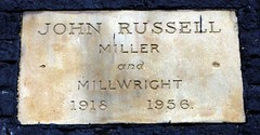 Photo of John Russell stone plaque