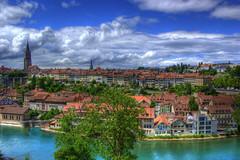 Bern (twicepix) Tags: schweiz switzerland swiss capital hauptstadt bern berne münster aare hdrphotomatixsinglerawtwicepix altstadtunesco
