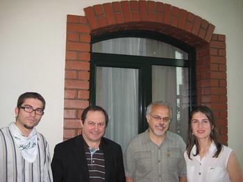 Генади Кондарев (ЗЕЛЕНИТЕ), Хуан Беренд (генерален секретар на ЕЗП), Михалис Тремопулос (водач на листата на гръцките зелени за европейските избори), Деница Петрова (съпредседател, ЗЕЛЕНИТЕ)