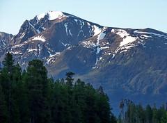 BC09f123 Mountain Sunrise, Valemount, BC 2009 (CanadaGood) Tags: morning blue mountain canada color colour tree green dawn bc britishcolumbia 2009 2000s valemount canadagood