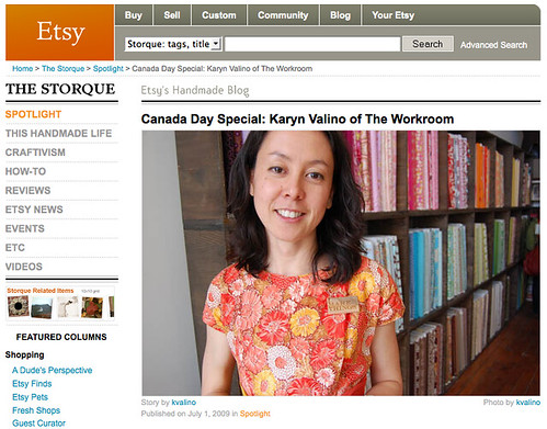 Etsy Canada Day feature
