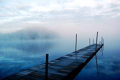 Swedens mystic lake / Schweden See (>Sven S.<) Tags: world blue our light lake water colors beautiful fog landscape licht nikon wasser sweden outdoor schweden natur d40 3000v120f nikonflickraward 100commentgroup nikonflickrawardgold theoriginalgoldseal nikonflickrawardplatinum