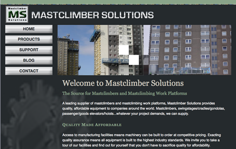 Mastclimber Solutions website