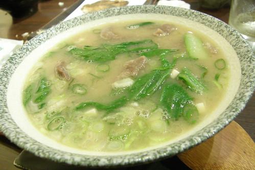 12.牛肉味噌湯