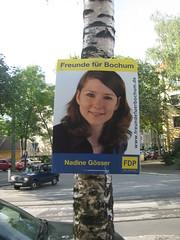 Wahlplakat: Nadine Gösser (FDP)